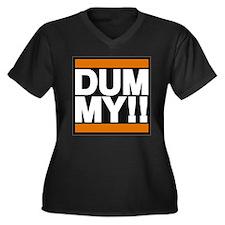 Big dummy Women's Plus Size V-Neck Dark T-Shirt
