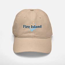 Fire Island - Seashells Design Baseball Baseball Cap