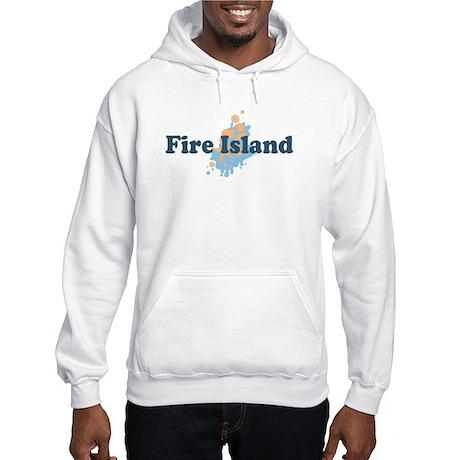 Fire Island - Seashells Design Hooded Sweatshirt