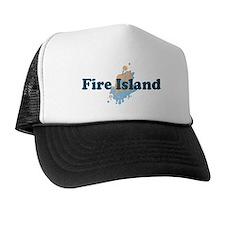 Fire Island - Seashells Design Trucker Hat