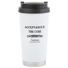 Autism ~ Acceptance is the cure Travel Mug