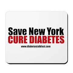 Save New York Cure Diabetes Mousepad