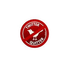 Twitter Quitter Mini Button