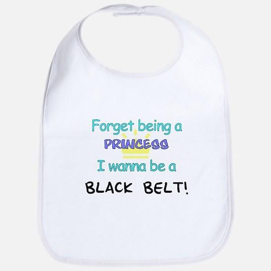 Black Belt Princess Bib