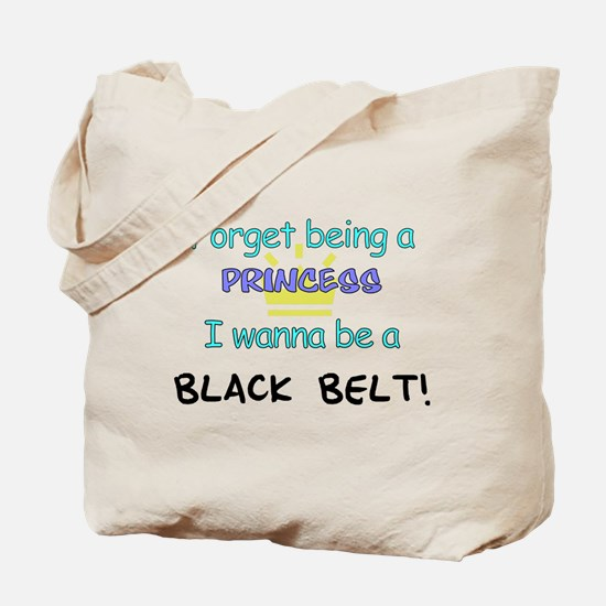 Black Belt Princess Tote Bag