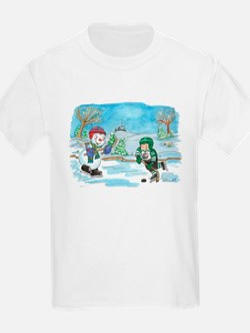 Hockey Holidays! Kids T-Shirt