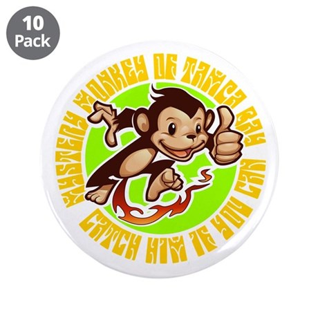 "MYSTERY MONKEY OF TAMPA BAY 3.5"" Button (10 p"