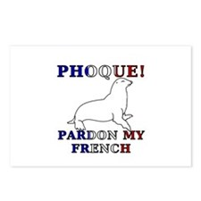 Phoque, Pardon My French Postcards (Package of 8)