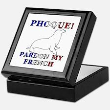 Phoque, Pardon My French Keepsake Box