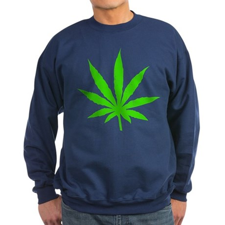 Marijuana Leaf Sweatshirt (dark)