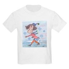 Skating Girl Kids T-Shirt