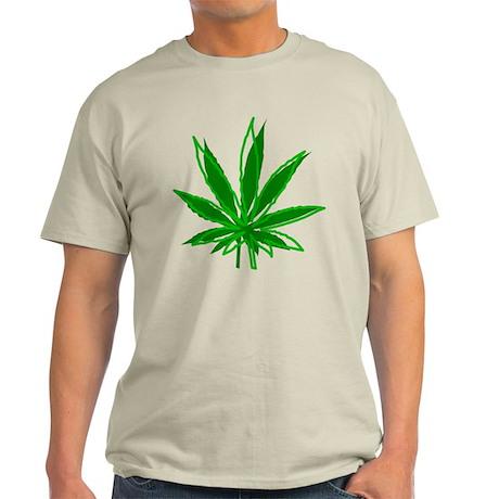 Abstract Marijuana Leaf Light T-Shirt