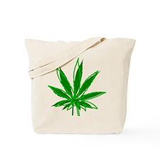 Abstract Marijuana Leaf Tote Bag