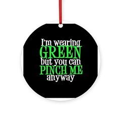 Green St. Patricks Ornament (Round)