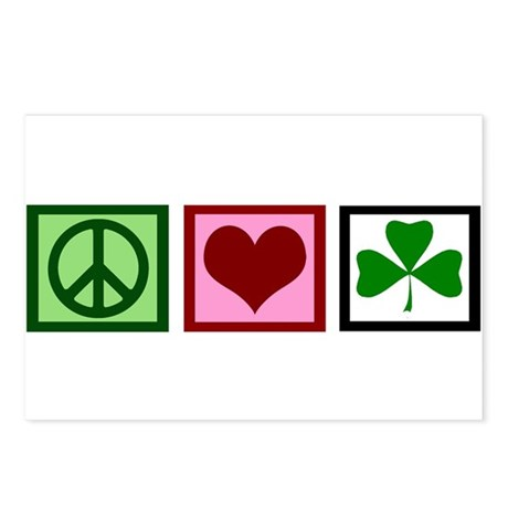 Peace Love Ireland Postcards (Package of 8)