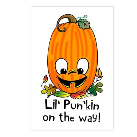 Lil' Pun'kin On the Way! Postcards (Package of 8)