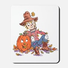 scarecrow and pumpkin Mousepad