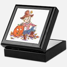 scarecrow and pumpkin Keepsake Box
