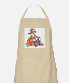 scarecrow and pumpkin BBQ Apron