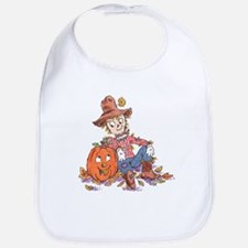 scarecrow and pumpkin Bib