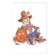scarecrow and pumpkin Postcards (Package of 8)