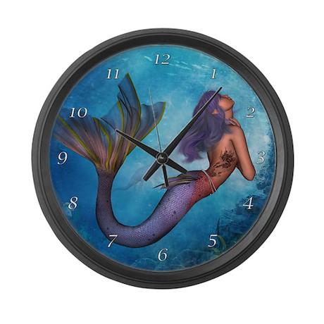 Large Mermaid Wall Clock