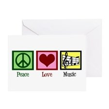 Peace Love Music Greeting Card