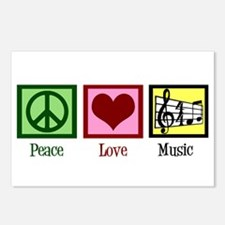 Peace Love Music Postcards (Package of 8)
