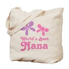 Nana (Worlds Best) Butterflies Tote Bag