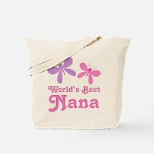 Nana (Worlds Best) Butterflies Tote Bag