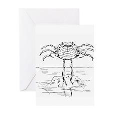 Dancing Crab Greeting Card