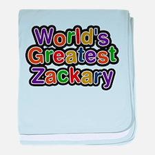 Worlds Greatest Zackary baby blanket