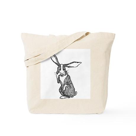 Nosy Rabbit Tote Bag