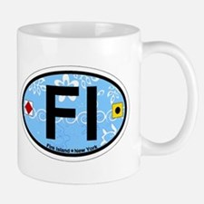Fire Island - Oval Design Mug
