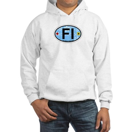 Fire Island - Oval Design Hooded Sweatshirt