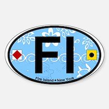Fire Island - Oval Design Sticker (Oval)
