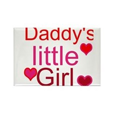 Unique Daddys little girl Rectangle Magnet
