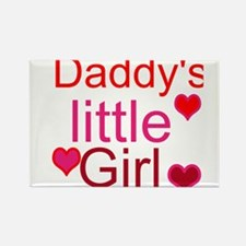 Cute Daddy%27s little girl Rectangle Magnet