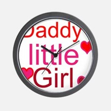 Cute Daddy%27s little girl Wall Clock