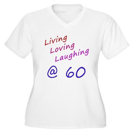 Living Loving Laughing At 60 Women's Plus Size V-N