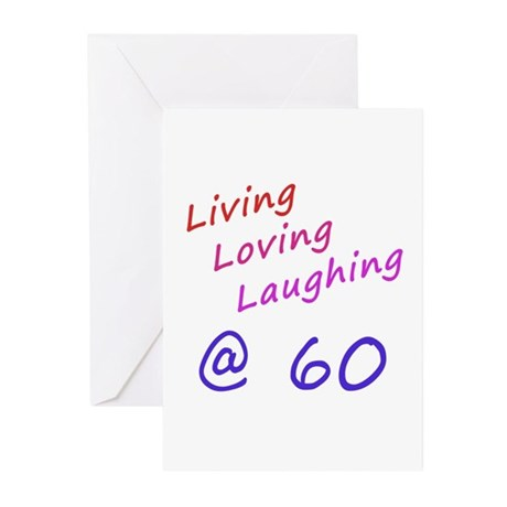 Living Loving Laughing At 60 Greeting Cards (Pk of