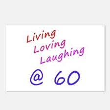 Living Loving Laughing At 60 Postcards (Package of
