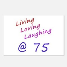Living Loving Laughing At 75 Postcards (Package of