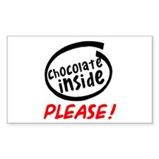 Chocolate Inside Please Rectangle Decal