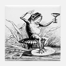 Drinking Frog Tile Coaster