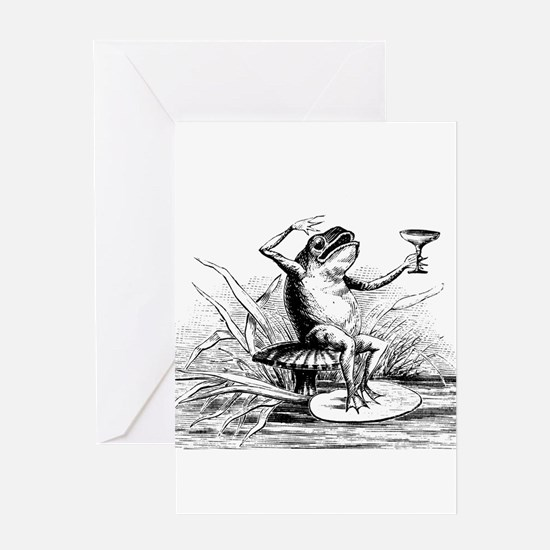 Drinking Frog Greeting Card