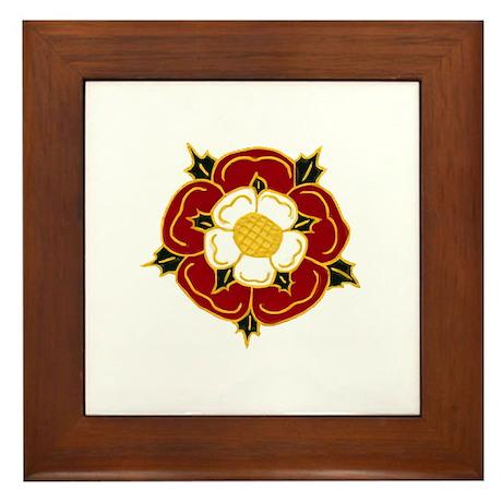 Tudor Rose Framed Tile
