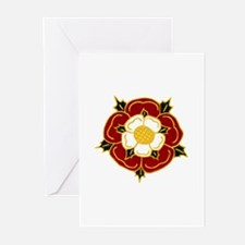 Tudor Rose Greeting Cards (Pk of 10)