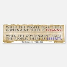 Thomas Jefferson Quote Sticker (Bumper)