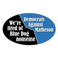 Democrats Against Jim Matheson bumper sticker